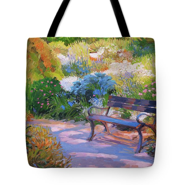 Bench On Margaret Island Tote Bag