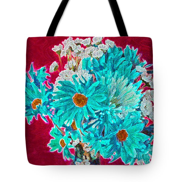 Tote Bag featuring the painting Beneath The Bouquet by Rita Brown