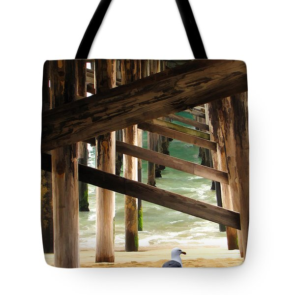 Beneath The Pier Tote Bag by Diane Wood