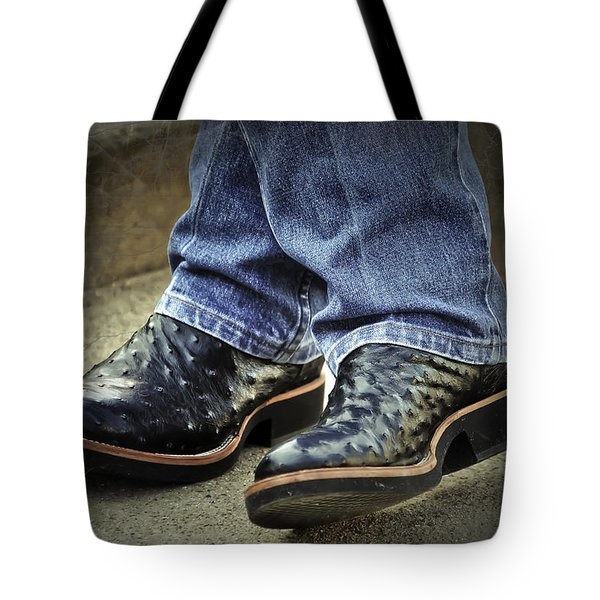 Bennys Boots Tote Bag by Joan Carroll