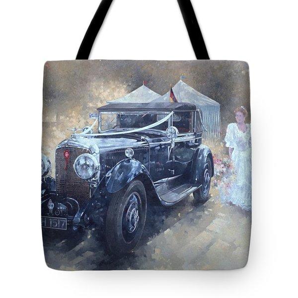 Bentley And Bride  Tote Bag by Peter Miller