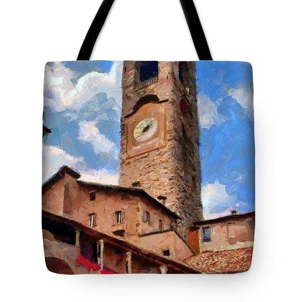 Bergamo Bell Tower Tote Bag by Jeff Kolker