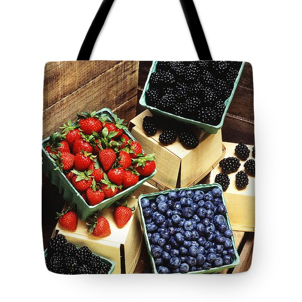 Berries Tote Bag by Photo Researchers