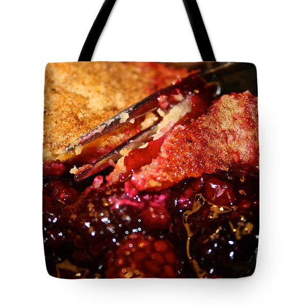 Berry Burst Bite Tote Bag by Susan Herber