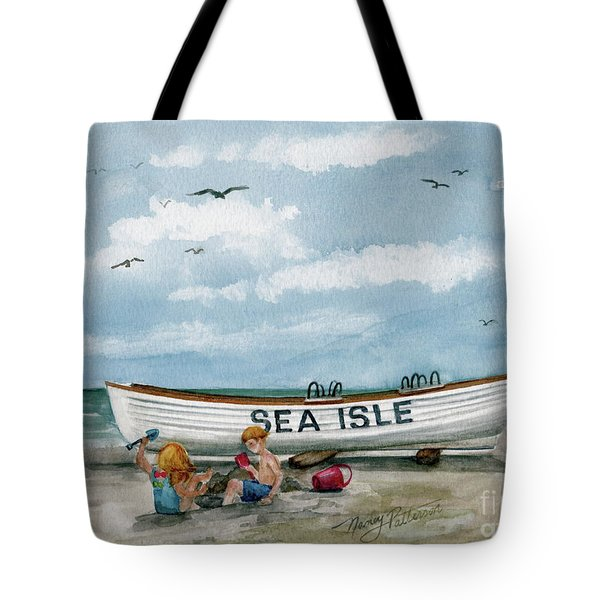 Tote Bag featuring the painting Best Buddies In Sea Isle  by Nancy Patterson