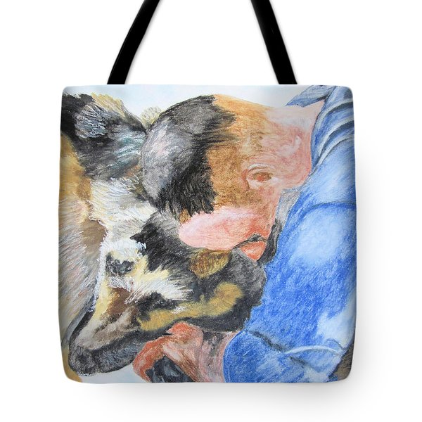 Best Friends - Oil Pastels Study Tote Bag
