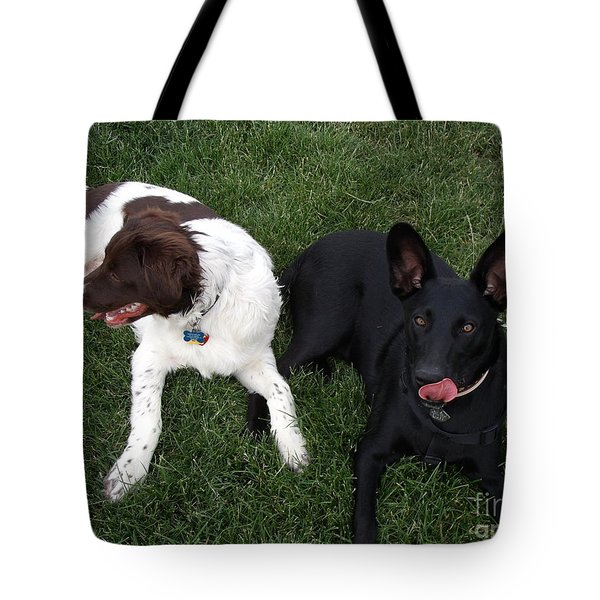 Best Of Friends Tote Bag by Donna Parlow