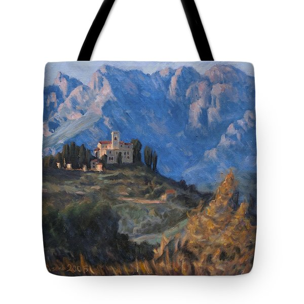 Between Earth And Sky Tote Bag by Marco Busoni