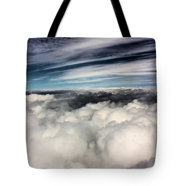 Between Heaven And A Soft Place Tote Bag by Kristin Elmquist