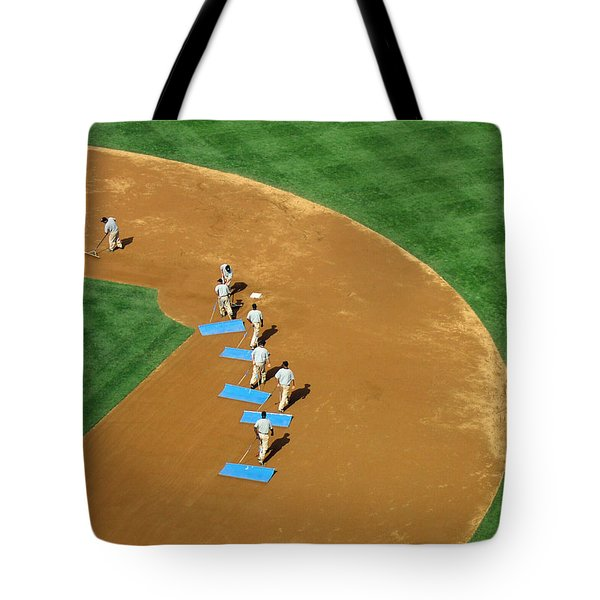 Between Innings Tote Bag by Mike Martin