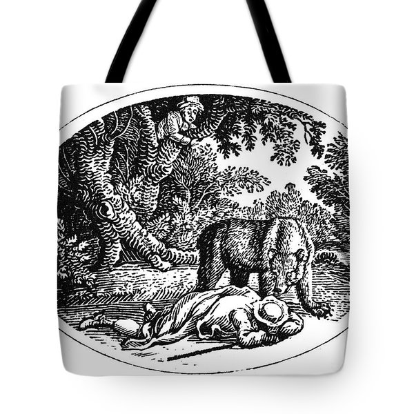 Bewick: Man And Bear Tote Bag by Granger