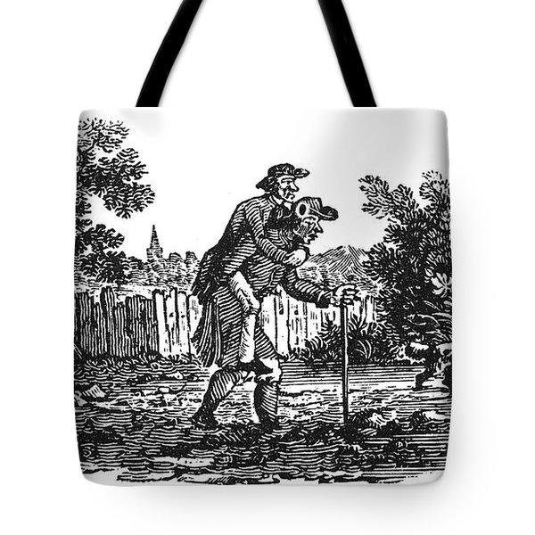 Bewick: Man Carrying Man Tote Bag by Granger