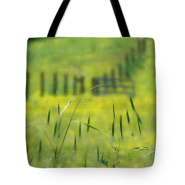 Tote Bag featuring the photograph Beyond The Weeds by EricaMaxine  Price