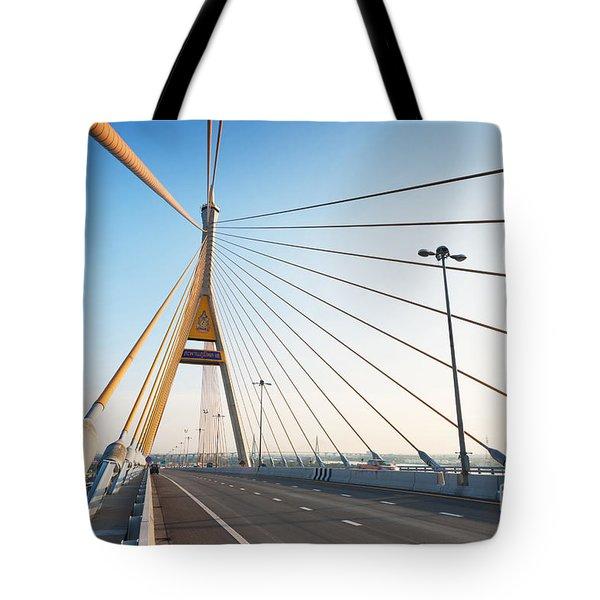 Bhumipol Bridge Tote Bag by Atiketta Sangasaeng