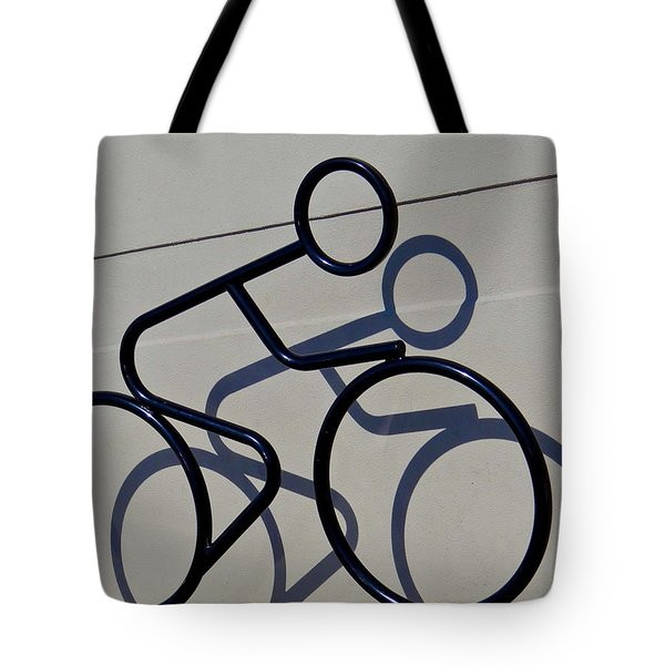 Bicycle Shadow Tote Bag by Julia Wilcox