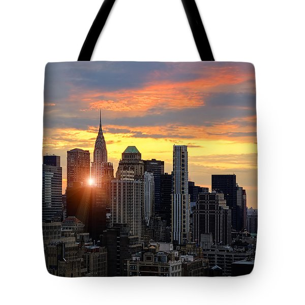 Big Apple Brilliance Tote Bag by Janet Fikar