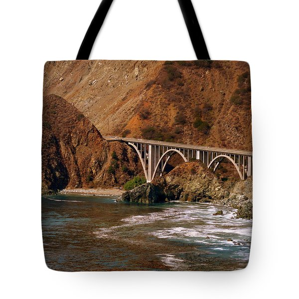 Big Creek Bridge Close Tote Bag by Jeff Lowe