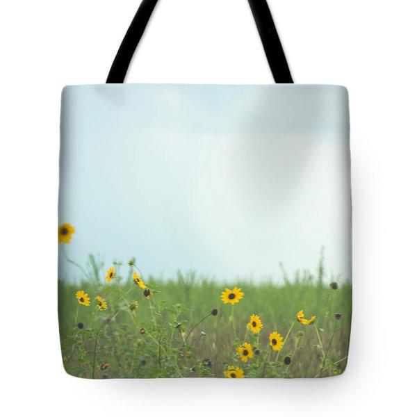 Big Eyed Susan In Watercolored Summer Tote Bag by Ellie Teramoto