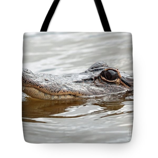 Big Eyes Baby Gator Tote Bag by Carol Groenen