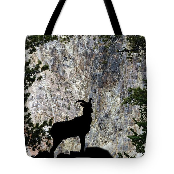 Tote Bag featuring the photograph Big Horn Sheep Silhouette by Dan Friend