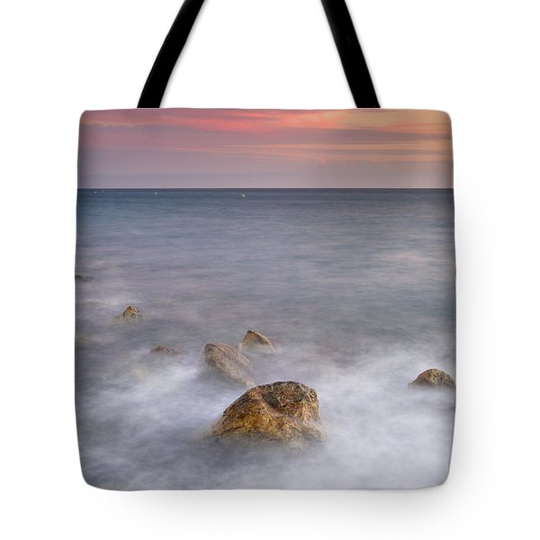 Big Rock Against The Waves Tote Bag by Guido Montanes Castillo