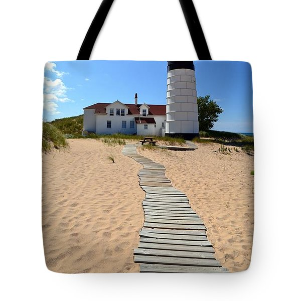 Big Sable Lighthouse At Ludington State Park Tote Bag