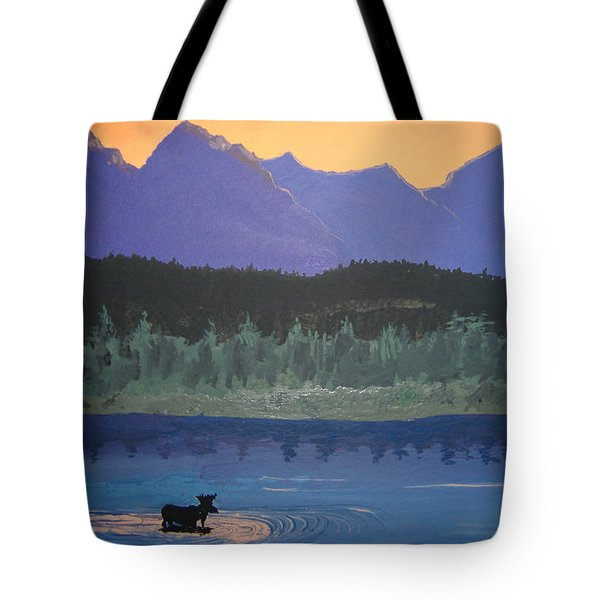 Tote Bag featuring the painting Big Sky Country by Norm Starks