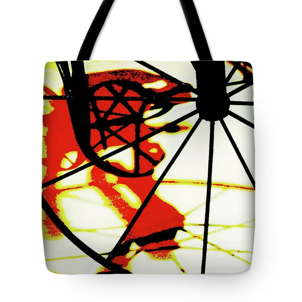 Tote Bag featuring the photograph Big Wheel by Newel Hunter
