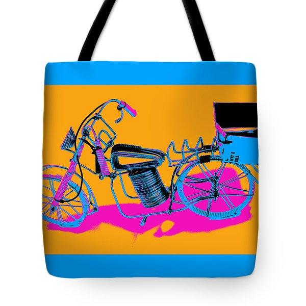 Bike-2c Tote Bag by Mauro Celotti