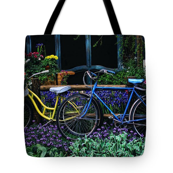 Tote Bag featuring the photograph Bike Ride by Tammy Espino
