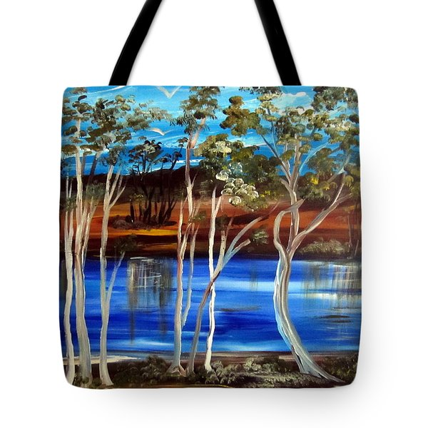 Tote Bag featuring the painting Billabong by Roberto Gagliardi