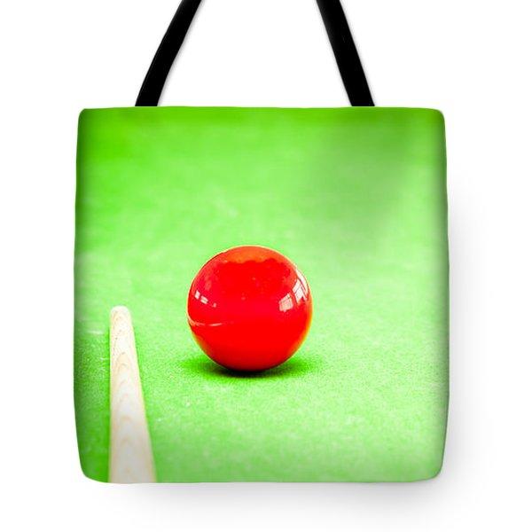 Billiard Table Tote Bag by Tom Gowanlock