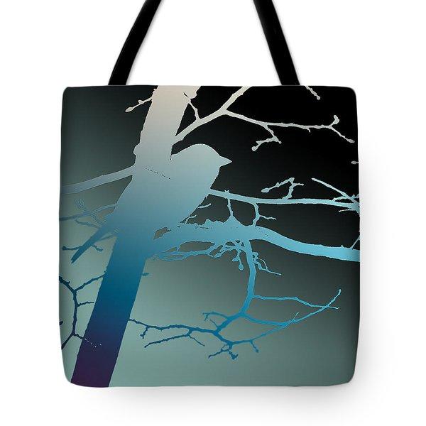 Bird At Twilight Tote Bag
