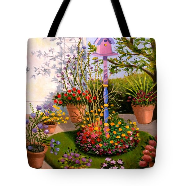 Bird House In My Backyard Tote Bag