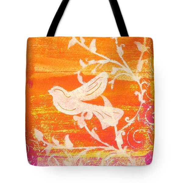 Bird In The Meadow Tote Bag