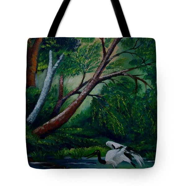 Bird In The Swamp Tote Bag