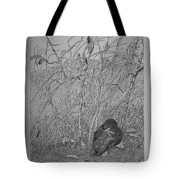 Bird In Winter Tote Bag