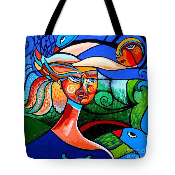Bird Lady Tote Bag by Genevieve Esson