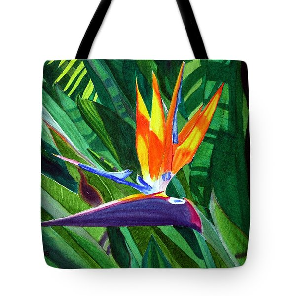 Bird-of-paradise Tote Bag by Mike Robles