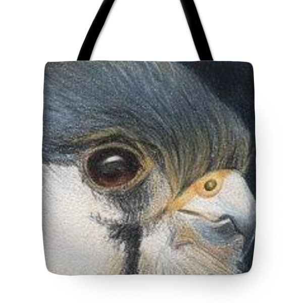 Tote Bag featuring the drawing Bird Of Prey - Aceo by Ana Tirolese