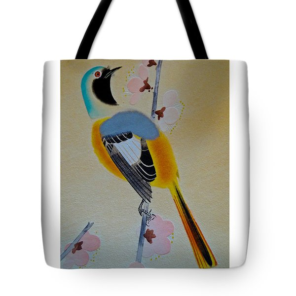 Bird Print Tote Bag by Julia Wilcox