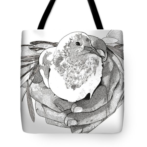 Bird Peace Tote Bag