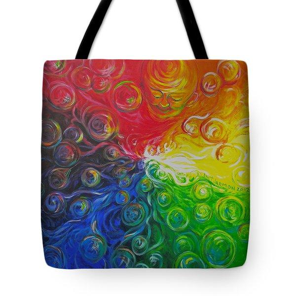 Birth Of Color Tote Bag