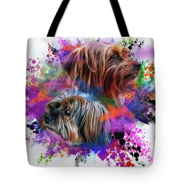 Tote Bag featuring the digital art Birthday Boy Shel by Kathy Tarochione