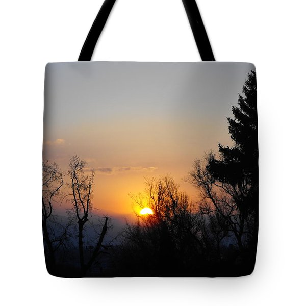 Birthday Sunset Tote Bag
