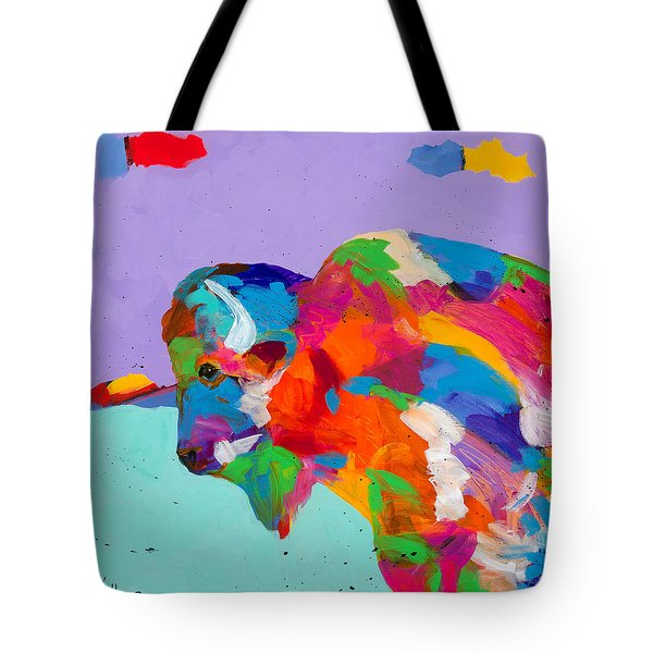 Bison Ablaze Tote Bag by Tracy Miller