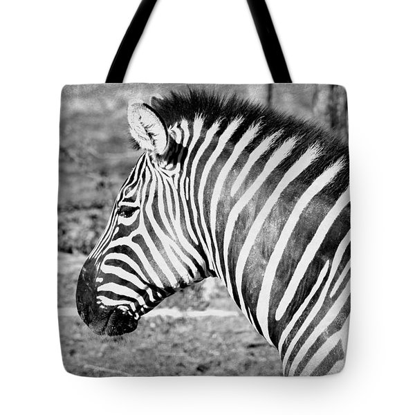 Black And White All Over Tote Bag by Elizabeth Budd