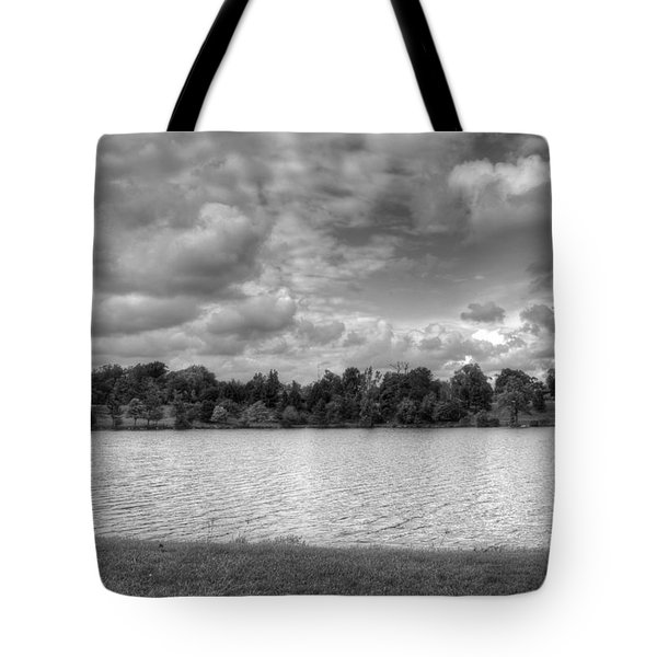Tote Bag featuring the photograph Black And White Autumn Day by Michael Frank Jr