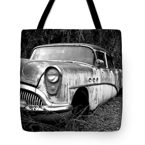 Black And White Buick Tote Bag by Steve McKinzie