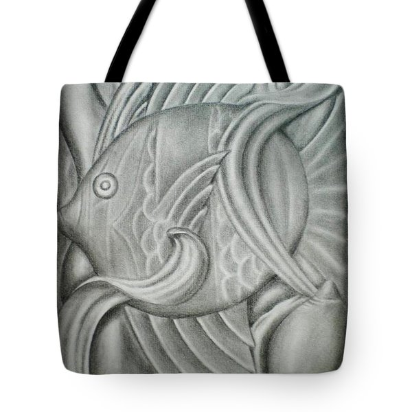 Black And White Fish Tote Bag